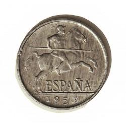 España 5 Cts. 1953. SC. (Su Brillo y Tono originales). (Imagen Tipo). AL. 1,25gr. Ø20mm. HG. 241 - CT. 141
