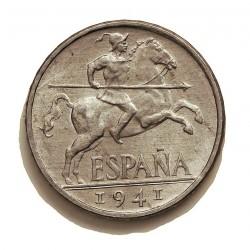 España 10 Cts. 1941. SC-/SC. (Todo su brillo original). (Plvs con V). MUY ESCASO/A. AL. 1,9gr. Ø23mm. HG. 243 a. - CT. 134