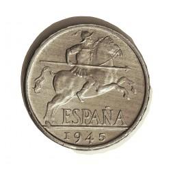 España 10 Cts. 1945. SC. (Tono original). AL. 1,9gr. Ø23mm. HG. 244 - CT. 135