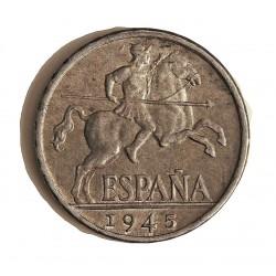 España 10 Cts. 1945. SC-/SC. AL. 1,9gr. Ø23mm. HG. 244 - CT. 135
