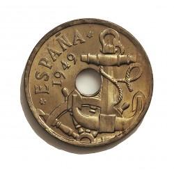 España 50 Cts. 1949. (2ª estrella Anepigrafa). SC. (Procede de cartucho). ESCASO/A. (Imagen Tipo. CUNI. 4gr. Ø20mm