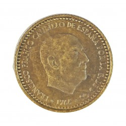 España 1 Ptas. 1966. *19*72. PRF. (Procede de Cartera FNMT). (OFERTA ESPECIAL -Antes 6 Euros). AL+AE. 3,5gr. Ø21mm. HG. 293