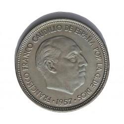 España 5 Ptas. 1957. *72. PRF. (Procede de Cartera FNMT). CUNI. 5,7gr. Ø23mm. HG. 321