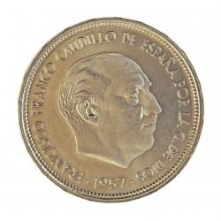 España 50 Ptas. 1957. *72. PRF. (Procede de Cartera FNMT). CUNI. 12,5gr. Ø30mm. HG. 348