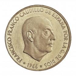 España 100 Ptas. 1966. *19*67. PRF. (El Reverso es BU)-(Pqñas. marquitas). RARO/A. (Guerra y Calico no citan). AG. 19gr. Ø34m