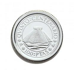 España 100 Ptas. 1989. PRF. (VºCº-Piramide). AG. 1,68gr. Ø15mm