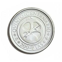 España 200 Ptas. 1989. PRF. (VºCº-Astrolabio). AG. 3,37gr. Ø20mm