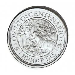 España 1000 Ptas. 1989. PRF. (VºCº-Al Andalus). AG. 13,5gr. Ø33mm