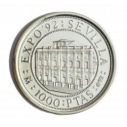 España 1000 Ptas. 1992. PRF. (VºCº-Archivo de Indias). AG. 13,5gr