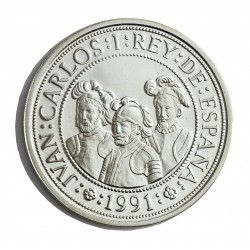 España 2000 Ptas. 1991. PRF. (VºCº-Federman, Quesada y Benalcazar). AG. 27gr. Ø40mm