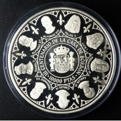 España 10000 Ptas. 1997. PRF. (Serie 1ª-Borbones-Juan Carlos y Sofía). AG. 168,75gr. Ø73mm