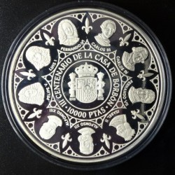 España 10000 Ptas. 1998. PRF. (Serie 2ª-Borbones-Juan Carlos y Felipe). AG. 168,75gr. Ø73mm