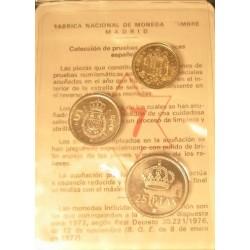 España Serie. 1975. *77. PRF. (Cartera FNMT de 3 val.). CUNI. CT. 147