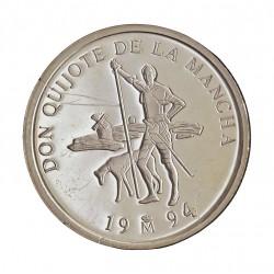 España 1 Ecu. 1994. FDC. (Cervantes). AG. 6,72gr. Ø24mm