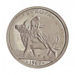 España 1 Ecu. 1989. FDC. AG. 6,72gr. Ø24mm. CAMP. 1