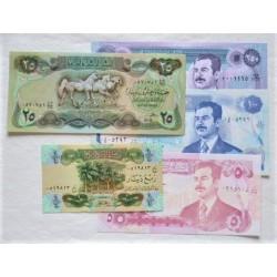 Iraq LOTE. 1979. SC. (Pik: 67a, 73, 80, 84, 85a2 ). (5 Billetes: 1/4, 5, 25, 100 y 250 Dinar. PIK. 67a/85a2