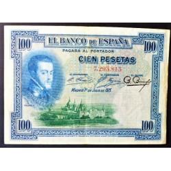España 100 Ptas. 1925. MBC-. (Felipe II-Sin Serie). EDF. B107 - PIK. 69 a