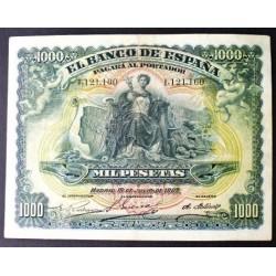 España 1000 Ptas. 1907. MBC/MBC+. (Doblez.Planchado. Bonito). (Sin Serie-Alegoria y Palacio Real). MUY ESCASO/A. EDF. B106 - P