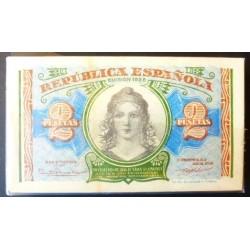 España 2 Ptas. 1938. SC. (Billetes de tapa sucios). (Serie A-PAQUETE con 100 Billetes)-(99 correlativos). EDF. C44 - HG. 420