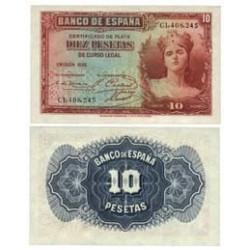 España 10 Ptas. 1935. SC. (Serie C). PIK. 86a - EDF. C15