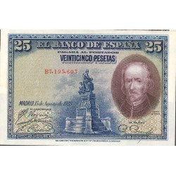 España 25 Ptas. 1928. SC. (Nuevos con lev.ondulación). (Serie B-PAREJA Correlativa-(Calderon). EDF. C4 - PIK. 74b