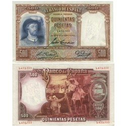 España 500 Ptas. 1931. SC/UNC. (Elcano-PAREJA Correlativa). PIK. 84 - EDF. C12. (Numeracion segun estoc)