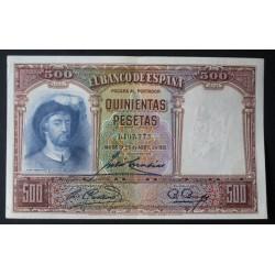 España 500 Ptas. 1931. SC-. (Nuevo con casi inapreciable marquita central.Precioso). (Elcano). PIK. 84 - EDF. C12. (Numeracion