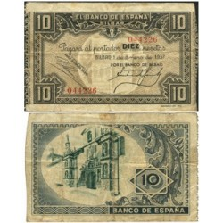 España Bilbao. . 10 Ptas. 1937. -01 Enero. MBC-. (Bco.BILBAO). EDF. C38a - PIK. S562