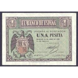 España 1 Ptas. 1938. Abril. SC. (Serie F). EDF. D29 a - PIK. 109a