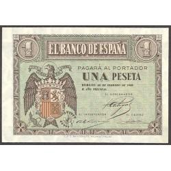 España 1 Ptas. 1938. Febrero. SC. (Serie E). EDF. D28 a - PIK. 107a