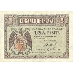 España 1 Ptas. 1938. Abril. SC. (Serie E-PAREJA correlativa). EDF. D29 a - PIK. 109a