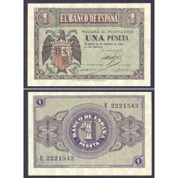 España 1 Ptas. 1938. Febrero. SC. (Serie E). PIK. 107a - EDF. D28