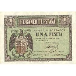 España 1 Ptas. 1938. Abril. SC. (Serie G). EDF. D29 a - PIK. 109a