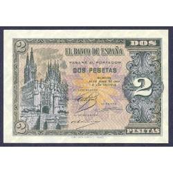 España 2 Ptas. 1938. 30 Abril. EBC-. (Nuevo con inapreciable doblez). (Serie N). EDF. D30 a - PIK. 109a