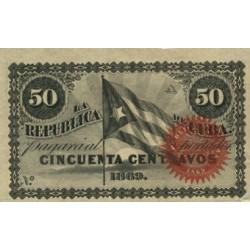 España 50 Ctvo. 1869. SC. (Serie A). ESCASO/A. EDF. CU27 - PIK. 54. (Sin número)