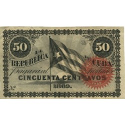 España 50 Ctvo. 1869. EBC/EBC+. (Nuevo con lev.doblez). (Serie L). ESCASO/A. EDF. CU27 - PIK. 54. (Sin número)