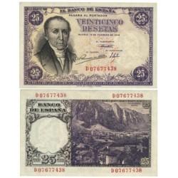 España 25 Ptas. 1946. MBC+. (Doblez.Lev.planchado.Muy bonito). (Serie D-(Estrada). PIK. 130a - EDF. D51a