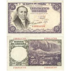 España 25 Ptas. 1946. EBC+/SC-. (Nuevo con marquitas y doblez esquina). (Serie J-(Estrada). EDF. D51 a - PIK. 130a