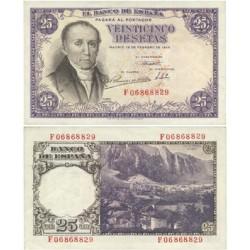 España 25 Ptas. 1946. SC. (Nuevo.Casi inapreciable ondulación). (Serie F-(Estrada). EDF. D51 a - PIK. 130a