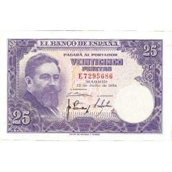 España 25 Ptas. 1954. SC. (Serie E-PAREJA correlativa-(Albeniz). EDF. D68 a - PIK. 147a
