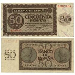 España 50 Ptas. 1936. SC. (Serie R). EDF. D21 a - PIK. 99a