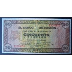 España 50 Ptas. 1938. MBC-/MBC. (Doblez.Planchado.Entero). (Serie E-Olite). PIK. 112a - EDF. D32a