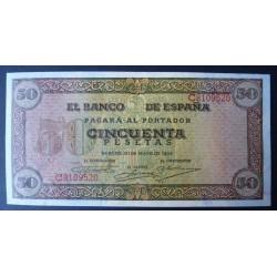 España 50 Ptas. 1938. SC. (Nuevo con levisima ondulacion que no afecta. Todo su apresto. Con las caracteristicas del papel de