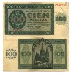 España 100 Ptas. 1936. EBC+/SC-. (Nuevo con leve doblez.Precioso). (Serie P-Catedral). EDF. D22 a - PIK. 101a