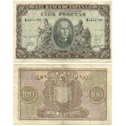 España 100 Ptas. 1940. MBC+. (Doblez). (Serie G-Colon). EDF. D39 a - HG. 486
