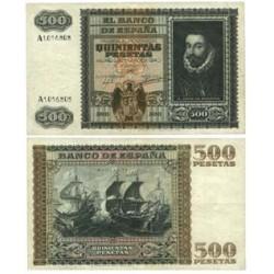 España 500 Ptas. 1940. MBC. (Doblez y planchado.Bonito). (Serie A-Juan de Austria). EDF. D40 - PIK. 119a