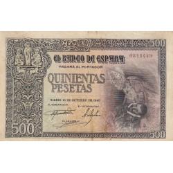 España 500 Ptas. 1940. MBC/MBC+. (Entero.Doblez.Bonito). (Sin Serie-Conde Orgaz). EDF. D45 - PIK. 124a