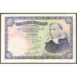 España 500 Ptas. 1946. EBC-/EBC. (Algo linpiado.Planchado.Precioso). (Fco.de Vitoria). EDF. D53 - PIK. 132a