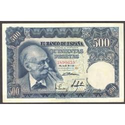 España 500 Ptas. 1951. MBC+. (Doblez.Bonito). (Sin Serie-Benlliure). EDF. D61 - PIK. 142a
