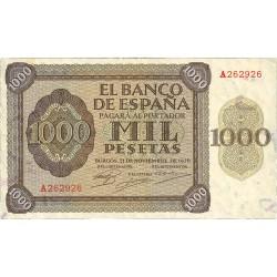 España 1000 Ptas. 1936. MBC/MBC+. (Doblez.Planchado.Entero). (Serie A-Pte.Alcantara). EDF. D24 - PIK. 103a